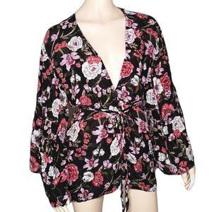 Billabong Floral Kimono Robe Jacket Dressing Gown